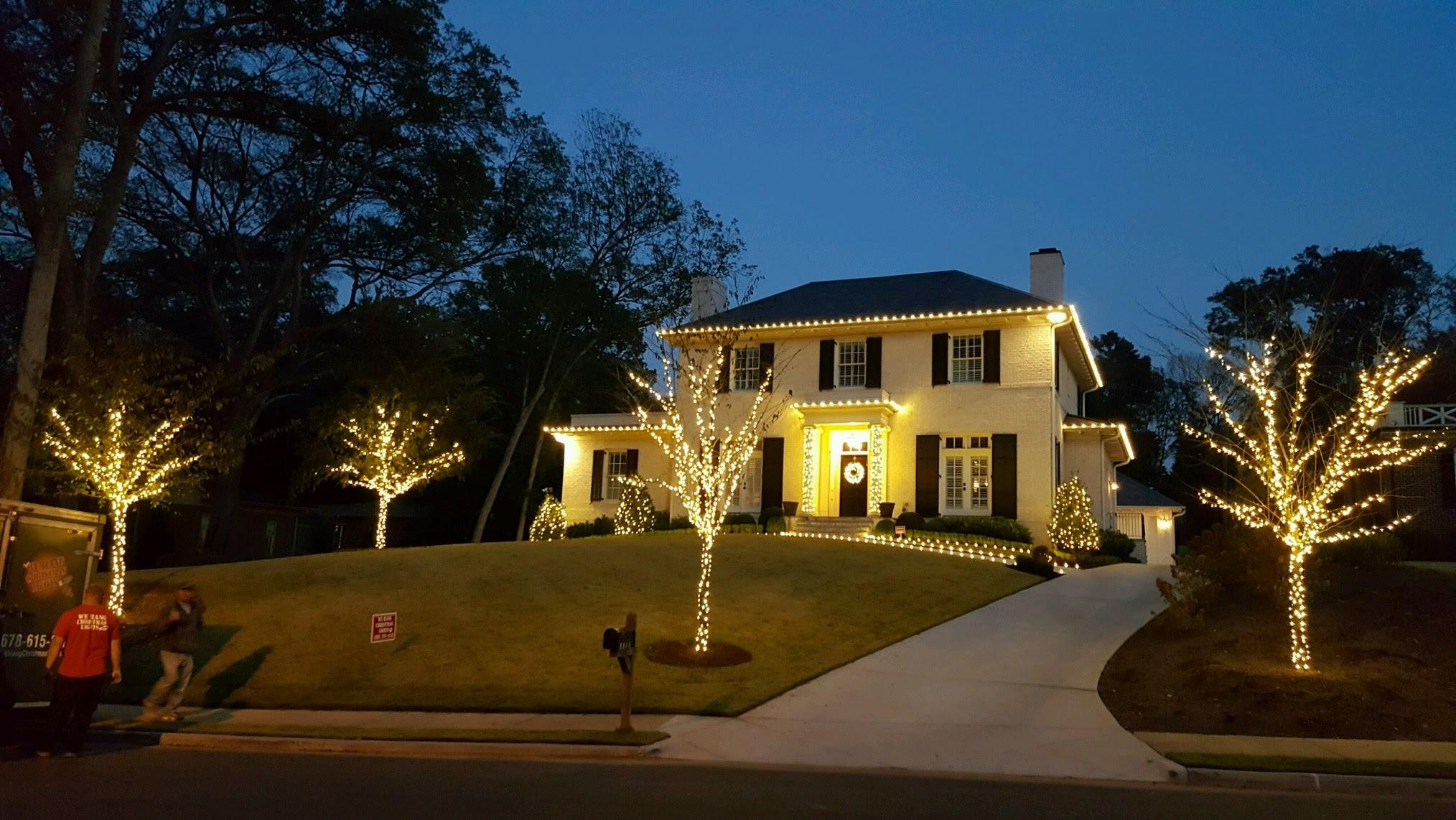 milton christmas light installation